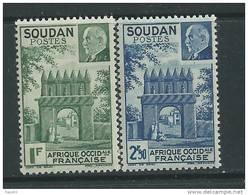 Soudan N° 129 / 30 XX  Porte De Djenné Et Effigie Du Mal Pétain, La Paire  Sans Charnière TB