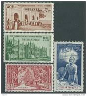 Soudan P.A. N° 6 / 9  XX  P.E.I.Q.I.  La Série Des 4 Valeurs Sans Charnière TB