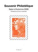 FRANCE. Souvenir Du Salon D'Automne 2008. Emissions Du 6 Au 8 Novembre. - Documents De La Poste