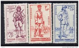 Soudan N° 122 / 24 XX  Défense De L´Empire Les 3 Valeurs Sans Charnière TB
