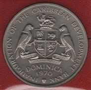 DOMINICA 4 DOLLARS 1970 FAO INAUGURATION OF THE CARIBBEAN DEVELOPEMENT BANK KM# 11 - Ostkaribischer Staaten