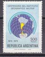 Argentina 1979 Centenario Del Instituto Geografico Militar / Antarctica 1v ** Mnh (35603) - Ongebruikt