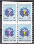 Argentina 1979 Centenario Del Instituto Geografico Militar / Antarctica 1v Bl Of 4  ** Mnh (35603A) - Ongebruikt