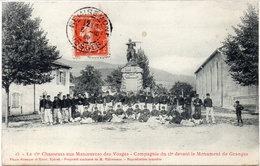Le 15° Chasseurs Aux Manoeuvres Des Vosges - Cie Du 15° Devant Le Monument De GRANGES  (96699) - Granges Sur Vologne