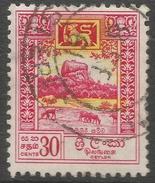 Ceylon. 1958-62 Definitives. Redrawn Inscriptions, 30c Used. SG 456 - Sri Lanka (Ceylon) (1948-...)