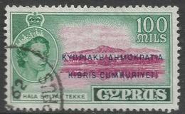Cyprus. 1960-61 Republic Overprint. 100m Used. SG 197 - Cyprus (Republic)