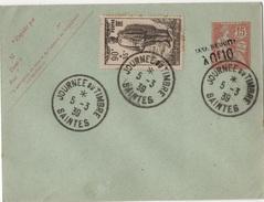 FR-L119 - FRANCE Entier Postal Enveloppe Type Mouchon Taxe Récduite Avec Obl. Journée Du Timbre Saintes 1939