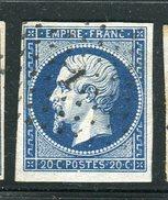 Superbe N° 14Aa Bleu Foncé Cachet PC 1 - 1853-1860 Napoleon III