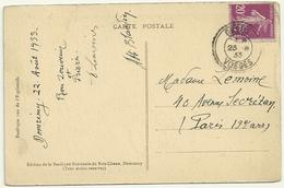 CACHET PERLE GREUX VOSGES SUR 20c SEMEUSE - Marcophilie (Lettres)