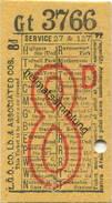 Grossbritannien - London - L. G. O. Co. Ltd. & Associated Cos. - Ticket - Fahrschein - Bus