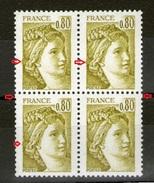 Bloc De 4 N° 1971**_2 Plus Grands + Chignon Débordant - 1977-81 Sabine Of Gandon