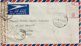 LCTN47/4- EGYPTE LETTRE AVION PORT SAÏD / PARIS 17/10/1951 CENSURE - Egypt