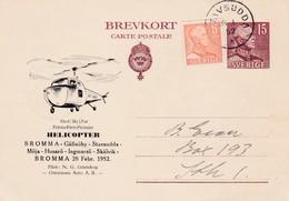 Carte  Par Hélicoptère  Stavsudda  Stockholm 1952