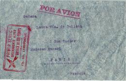 LCTN47/4- CHILE PRIMER SERVICIO ENTERAMENTE AEREO AMERICA DEL SUR-EUROPA CON AEROPOSTAL 3 DE JUNIO 1930 - Chili