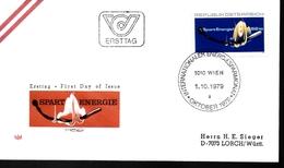AUTRICHE    FDC    1979  Economisez L Energie Allumette