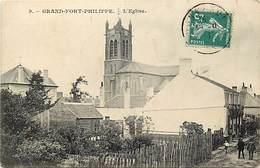 - Nord -ref- A687-  Grand Fort Philippe - L Eglise Et Jardins - Carte Bon Etat - - France