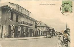 Ref T887- Guyane - Cayenne - Rue Des Marais /-legere Tache Cote Bas Droit / Carte Bon Etat General  - - Cayenne