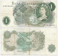 Gran Bretaña - Great Britain 1 Pound 1970-77 Pick 374.g Ref 247 - 1952-… : Elizabeth II