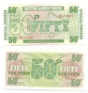 Gran Bretaña - Great Britain 50 Pence 6ª Serie 1972 Pick M49.a UNC - Fuerzas Armadas Británicas & Recibos Especiales