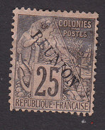 Reunion, Scott #24, Mint Hinged, French Stamp Overprinted, Issued 1891 - Unused Stamps