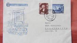 DDR Bis 64: Doppel-Fern-Brief Mit 35 Pfg Messe Mit OSt. DresdenA19 Vom Ersttag Messe 25.2.56 Auf FDC-Umschl. Knr:504,519 - Storia Postale