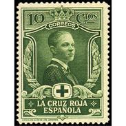 ES328STV-LFT**328S.España. Spain   Espagne. 1ª CRUZ  ROJA 1926 (Ed 328*) Con Charnela MAGNIFICO - 1889-1931 Royaume: Alphonse XIII