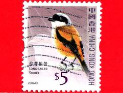 HONG KONG - Usato - 2006 - Uccelli - Averle - Long Tailed Shrike - Birds - 5 - Oblitérés