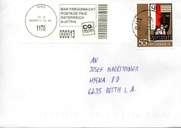 Brief Von 1170 Wien Mit 55 Cent Salzburger Festspiele + 13 Cent Bar Frei 2017 - 2011-... Lettere