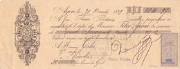 Wissel Reçu - Xavier Boeuf - Agen 1889 - Lettres De Change
