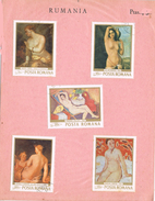 24204. Tarjeta Souvenir RUMANIA 1969. Pintura, Arte Nude , Desnudos º - Desnudos