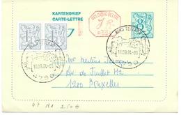 Belgique Carte-lettre N° 47 M1 Oblitérée - Cartes-lettres