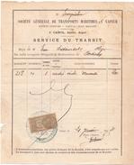 SA Transport Maritimes à Vapeur - Service Du Transit - Alger - Portieux - 1904 - Titres De Transport