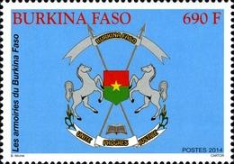 Burkina Faso 1421 Armoiries , Coat Of Arms , Cheval , Horse