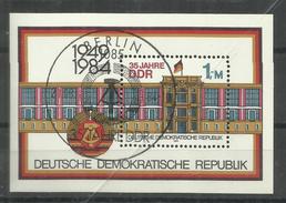 "DDR Bl.77 ""35 Jahre DDR 1949-1984 (I)"" Sonderstempel  Mi.-Preis 1,40 - Blocs"