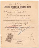 Compagnie Anonyme De Navigation Mixte  - Alger - Marseille 1891 - Titres De Transport