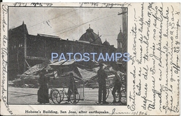 72066 US SAN JOSE CALIFORNIA HOBSON'S BUILDING AFTER EATHQUAKE SPOTTED POSTAL POSTCARD - Vereinigte Staaten