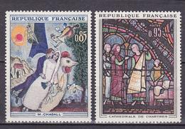 N° 1398 Et 1399 :  Chagall Et Vitrail Cathédrale De Chartres: Série En  Timbres Neuf Sans Charnière Impeccable - Unused Stamps