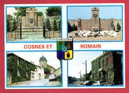 54. Cosnes Et Romain ( Longwy). Multi-vues Et Blason 1987 - Autres Communes