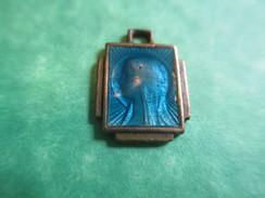 Médaille Religieuse Ancienne/Profil De Marie /Bronze Cloisonné émaillé/ XXéme    CAN352 - Religion & Esotericism