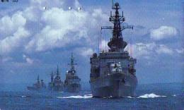 Phonecard JAPAN * War Ship (51) Boat Bateau Warship Military Ship Paquebot Navire De Guerre Boats Navy Leger Armee JAPON - Armee