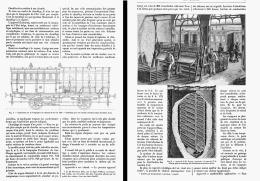 LE CHAUFFAGE DES VOITURES DE CHEMINS DE FER    1885 - Ferrovie