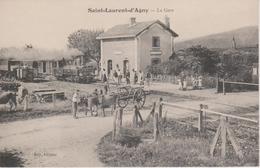69 - ST LAURENT D'AGNY - LA GARE AVEC TRAIN - Autres Communes
