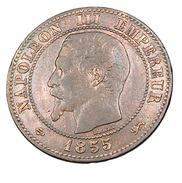 Deux Centimes - Napoléon III   - France - 1855 D -  Grand D - Lyon   -  Bronze - TB+ - - France