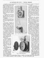 LE FILTRAGE DES EAUX -LES FILTRES JOHNSON  1885 - Sciences & Technique