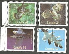 Sc. # 1095-98 Birds Of Canada Set Used 1986 K245