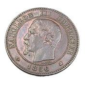 Deux Centimes - Napoléon III   - France - 1856 K - Bordeaux -  Bronze - TTB+ - - B. 2 Centimes