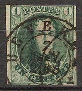 Nr. 9 Met ZELDZAME DC Stempel BEVEREN En In Goede Staat Met 3 Randen ! Inzet Aan 15 € ! - 1858-1862 Médaillons (9/12)