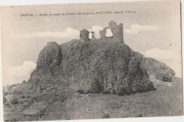 15 - APCHON - Rocher Et Ruines Du Château Des Seigneurs D'Apchon (impeccable) - Autres Communes