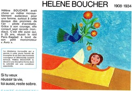 Buvard  -  HELENE BOUCHER 1908-1934 - Transport
