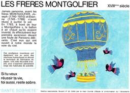Buvard  -  LES FRERES MONTGOLFIER  XVIIIème Siècle - Transport